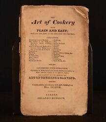 C1836 The Art Of Cookery Plain And Easy Hannah Glasses Scarce Edition