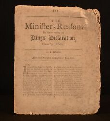 1688 Ministerand039s Reasons For Not Reading The Kings Declaration Revolution Scarce