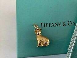 And Co 18k Gold Kitty Cat Charm Pendant 750 Rare