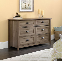 Chest Of Drawers Large Home Bedroom Oak Six 6 Drawer Decor Dresser Furniture New