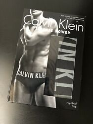 NWT Calvin Klein Intense Power Micro Hip Brief underwear Black NB1044 $17.99