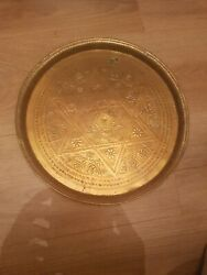 Antique Tray With Inscriptions. Possibly Hand Made In The Early Century