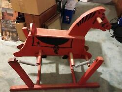 Wooden Rocking Horse The Wonder Horse 1940-50s Early
