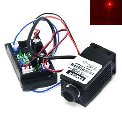 Focusable 635nm 638nm 100mw Red Dot Laser Diode Module Ttl 12v Driver Fan Cool