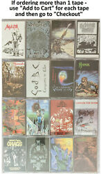 Thrash Metal Cassettes - Choose From 16 Different Wild Rags Titles - New Sealed