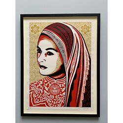 Shepard Fairey Peace Woman Framed Signed Numbered 2008 Obey Giant Sold Out