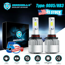 2x 9005 Hb3 9145 Led Headlights Kit 2000w 300000lm 6500k Super Bright High Beam