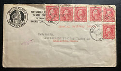 1916 Bristol Ri Usa Advertising Cover To Holliston Ma Pittsfield Poultry