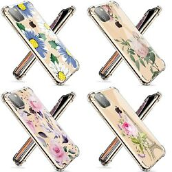 Wholesale Lot Of 100 Iphone 11 Clear Shockproof Flower Silicone Phone Case Cover