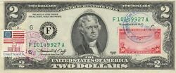 2 Dollars 1976 Stamp Cancel Classic American Aircraft Lucky Money Value 125