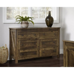 Chest Of Drawers Large Home Bedroom Six 6 Drawer Storage Decor Dresser Furniture