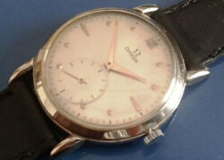 Omega Big Jumbo Case Cal.267 Menand039s Watch From 50and039s Vtg Stainless Steel Hand Wind