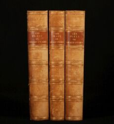 C1875 3 Vols Plays Of Shakespeare Ed. By Cowden Clarke