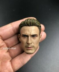1/6 Chris Evans Captain America Head Sculpt Avengers For 12and039and039 Male Action Figure