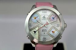 Jacob And Co 47mm 5 Time Zone Jc24da Authentic Stainless Steel Ladies Diamond Watc