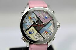 Jacob And Co Jcmath4 Brand New Diamond Watch 40mm Ladies 5 Time Zone Box And Papers