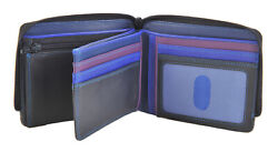 Mywalit Mens Zip Around 7 Card Coin Purse Wallet In Various Colours 115
