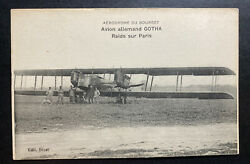 Mint France Real Picture Postcard Early Aviation German Air Plane Gotha