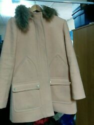 J Crew Vail Hooded Parka Wool Coat Dusty Ginger Chateau Sz 6