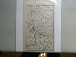Original Map Of The Iowa Central Railway And Connections 1906