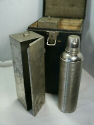 Antique Four-thermos Carrier W/boxes, Thermos, 1872 Journal/notebook With Notes