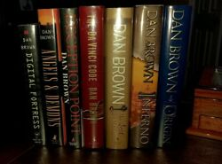 Dan Brown Complete First Printing Collection Some Signed Psa Certifications