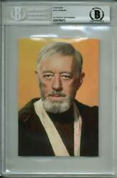 Alec Guinness Star Wars A New Hope Authentic Signed 4x6 Postcard Bas Slabbed