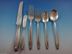 Prelude By International Sterling Silver Flatware Set Service 50 Pieces
