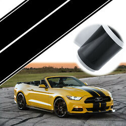 For Ford Mustang Black Rally Racing Stripes Hood Roof Trunk Decal Sticker Wrap