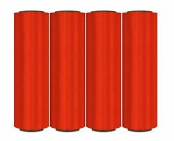 17 X 1968and039 Red Pre-stretch Hand Wrap Plastic Film 224 Rolls + Hand Saver