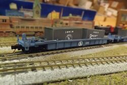N-scale Custom Painted Great Northern Gn Well Car W/cont 12594