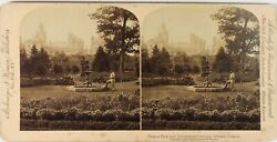 Canada Ottawa Le Parc, Photo Stereo Vintage Citrate 1894