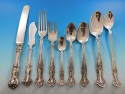 Vintage By 1847 Rogers Silverplate Flatware Set For 8 Service 81 Pieces Grapes