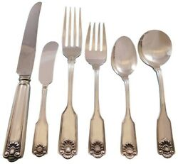 Fiddle Shell By Frank Smith Sterling Silver Flatware Set 8 Service 54 Pieces