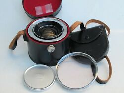Rare Zeiss Ikon Contarex 18mm F4 Distagon Lens With Caps/hood/filter/case Lqqk