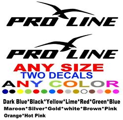Pro Line Boats Stickers Decals Any Color Any Size Boat Birds Proline Marine
