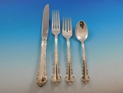 Peachtree Manor By Towle Sterling Silver Flatware Set For 8 Service 35 Pieces