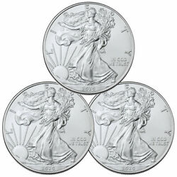 Lot of 3 2020 1 oz American Silver Eagle $1 Coins GEM BU SKU59437 $88.39
