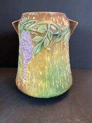 Vintage Roseville Pottery Wisteria 633-8 Rare No Issues Desirable Colors