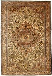 Turkish Handmade Rugs Anatolia Collection Hand-knotted Washable 6and039-4 X 9and039-5