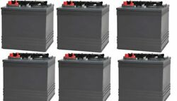 Replacement Battery For Club Car 8v Carryall Turf 252-electric Golf Cart 6 Pack
