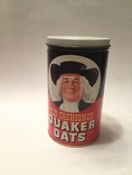 Vintage Old Fashioned Quaker Oats Tin 1982 Canister Can Oatmeal Cookie Recipe