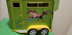 Vintage Breyer Traditional Series Green Retired Two Horse Trailer