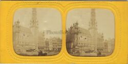 Brussels Belgium Hotel City Stereo Diorama Vintage Albumin Ca 1865