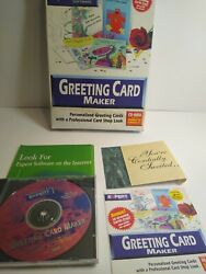 Greeting Card Maker Pc Expert Software Vintage Windows 27 Occasions Good Used