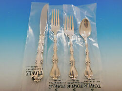 Country Manor By Towle Sterling Silver Flatware Set For 8 Service 32 Pieces New
