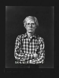 Andy Warhol Photo 4x5 Dkrm Contact Print Vintage 1977 Signed Orig