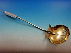 Isis By Gorham Sterling Silver Soup Ladle Gold Washed 3d Figural 12