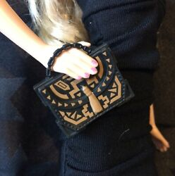 Barbie Fashionista Black amp; Bronze Bag Only New From Pack GBP 5.25