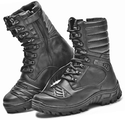 Mens Hunting Boots Motorcycle Black Leather Military Boots Tactical Boots Hunt